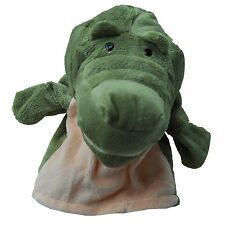 Plush Velour Animals Hand Puppets Kid Child Learning Aid Toy Crocodile HY