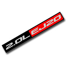 BLACK/RED METAL 2.0L EJ20 ENGINE RACE MOTOR SWAP BADGE FOR TRUNK HOOD DOOR