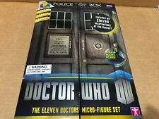 Doctor Who Character Building 11 Doctors Micro-Figure 50th Anniversary Set! Nib!
