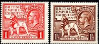 SG 432/433 1925 Empire Exhibition Mounted Mint Set of 2