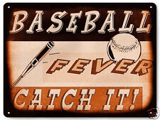 Baseball Metal Sign Mancave Great Gift sports art / vintage style Wall decor 191