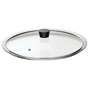 IKEA Stainless Steel Frypan Cover Lid Oil Proof Pan Glass Lid