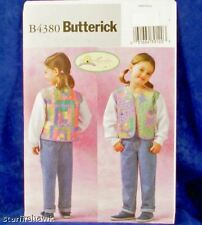 Butterick 4380 Girl's Quilted Jacket Pattern Sz 6-8 New