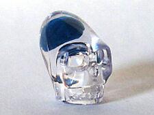 LEGO Indiana Jones - Minifig, Head / Skull Crystal with Blue Brain - Trans-Clear