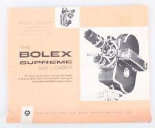 Bolex The Bolex Supreme And Leader Pamphlet