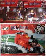 3x LEGO Harry Potter Trolley + Eule; Labor; Hogwarts Express 30110 30111 40028