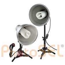 PhotoSEL LS12E42T Studio Lighting Kit Tabletop 2x55w 3000lm 5500K 90+ CRI Light