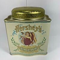 Vintage Cherub Hersheys Cocoa Tin Container Advertising Bristol Ware Empty 1993