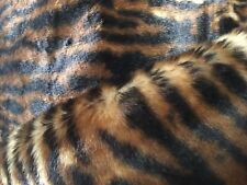 Leopard Animal Skin Faux Fur Luxury Fabric-brown Tan and Black. BTY