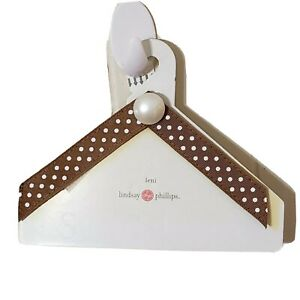 Lindsey Phillips Switchflops Straps Brown with Polka Dots Pearl Charm Size M 7/8