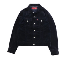 Junya Watanabe 2002 Levi Blue Velvet Trucker Jacket Size 3 condition 9.5/10