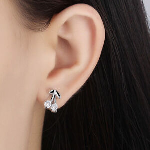 Exquisite 925 Silver Cherry Earrings 328