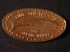 Sperm Whale, Love The Whales elongated penny V11