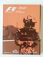 FORMULA 1 GRAND PRIX CANADA 2003 OFFICIAL F1 PROGRAM