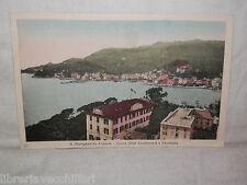 Vecchia cartolina foto d epoca di S Margherita Ligure Hotel Continental panorama