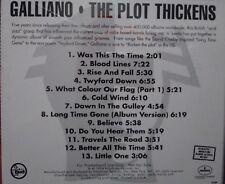 Galliano The Plot Thickens CD Promo EX+ 1994 BRITISH ACID JAZZ TALKIN LOUD