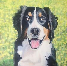 Dog Pet Portrait Painting Fine Art Burnese Mountain Dog