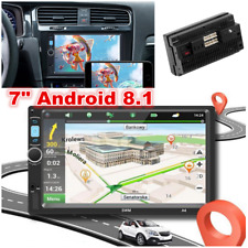 "7"" Android 8.1 Car Stereo GPS Navigation FM Radio MP5 Player Double Din WIFI"