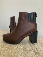 New Sorel Margo Chelsea Wedge Leather Anthropologie Ankle Boots Women's Size 8.5