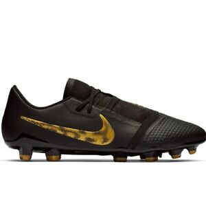 Nike Phantom Venom VNM Pro FG Soccer Cleats Black/MTLC Gold AO8738-077 Men's NEW