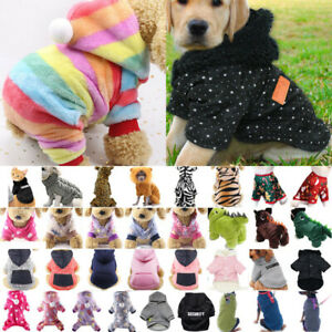 Pet Puppy Dogs Jumper Winter Warm Clothing Sweater Hooded Vest Shirts Pullover