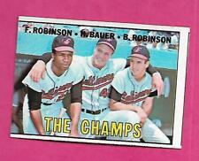1967 TOPPS # 1 ORIOLES ROBINSON /BAUER /ROBINSON THE CHAMPS EX (INV# A8108)
