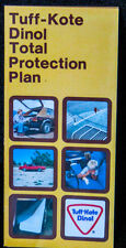 Vintage 1979 Tuff-Kote Dinol vehicle Protection Plan advertising brochure flyer