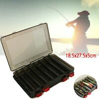 Fishing Lure Bait Tackle Box Waterproof Storage Box Case With 10/14 Compartment