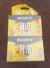 NEW Sony 4 Pack Hi8 HMP Digital8 Tape 60/120min Cassette Camcorder Blank Video
