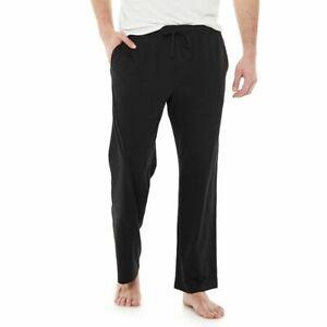 Big & Tall Croft & Barrow Plaid Knitted Sleep Pants Men's Size 4XB Black NWT