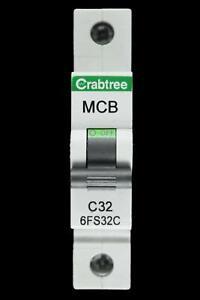 CRABTREE 32 AMP TYPE C 6kA MCB CIRCUIT BREAKER 6FS32C BC