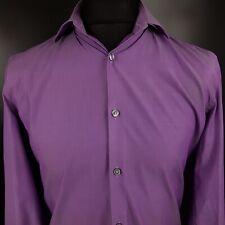 HUGO BOSS Mens Formal Shirt 39 15.5 SMALL Long Sleeve Purple Slim Fit Cotton