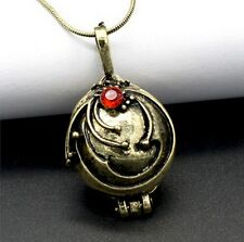 The Vampire Diaries Elena's Vervain Antique Bronze Locket Vintage Necklace Chain