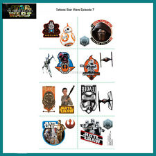Sheet of 8 Star Wars Episode 7 Temporary Tattoos for Kids Birthday Parties