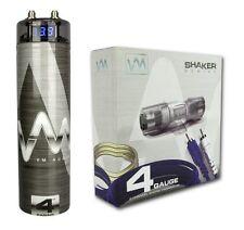 VM Audio SRSK4B 4 Gauge Car Amplifier Amp Wiring Kit+ 4.5 Farad Power Capacitor