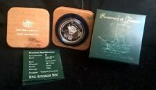 2004 FIVE DOLLAR 1.156 OUNCE PURE SILVER  -*BICENTENARY OF TASMANIA* PROOF COIN