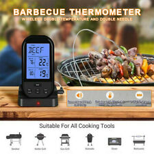 Digital Wireless Electronic Remote 2 Probe Meat Food Thermometer For BBQ Grill