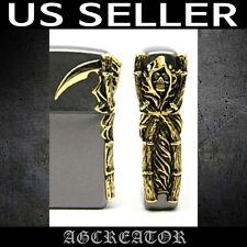 New Japan Korea zippo lighter grim reaper scythe angel of dark emblem US SELLER