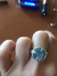Karen Karch Aquamarine And Sterling Ring