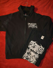 DRAGGED INTO SUNLIGHT hooded zipper + t-shirt L (mayhem, anaal nathrakh, cough)