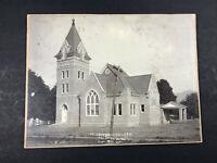 1911 Presbyterian Church Academy W. Va. Cabinet Card photo