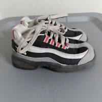 Nike Air Max 95 Kids Toddler Size 10C Shoes Gray/White/Red Athletic Sneakers