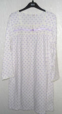 LADIES M&S LONG SLEEVED CREAM MIX FLORAL POLYESTER  NIGHTY (SIZE 20/22)