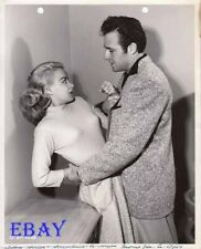 Rex Reason wrestles w/sexy busty Norma Randall Mission Over Korea VINTAGE Photo