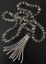 Fashion Bohemian knot tribal Crystal charming crystal Tassel necklace jewelry