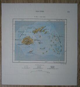 1889 Perron map FIJI, PACIFIC OCEAN (#182)