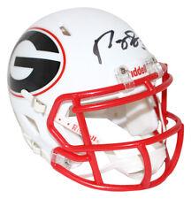 Roquan Smith Autographed/Signed Georgia Bulldogs AMP Mini Helmet BAS 25845