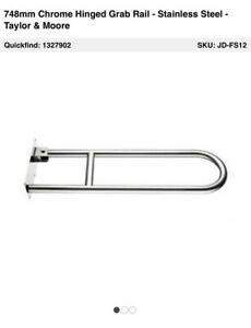 BN Disabled Toilet Hinged Support Grab Rails Taylor & MooreQuality Item S Steel