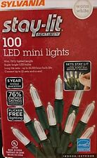 Sylvania Stay-Lit Platinum LED Indoor/Outdoor Christmas String Lights (100ct min