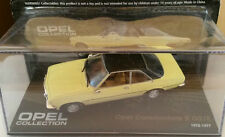 """DIE CAST """" OPEL COMMODORE B GS/E 1972 - 1977 """" OPEL COLLECTION SCALA 1/43"""